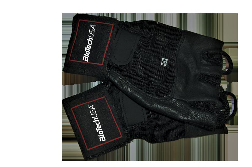 BioTech USA Fitness rukavice Houston s omotávkou na zápästie pár