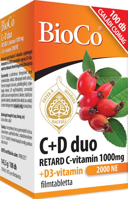 BioCo C+D Vitamin Duo 100 tbl.