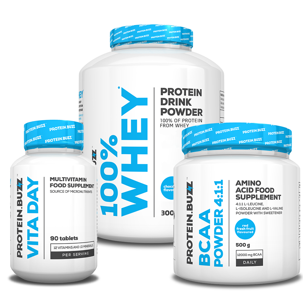 Protein Buzz Get Lean Muscle Stack set