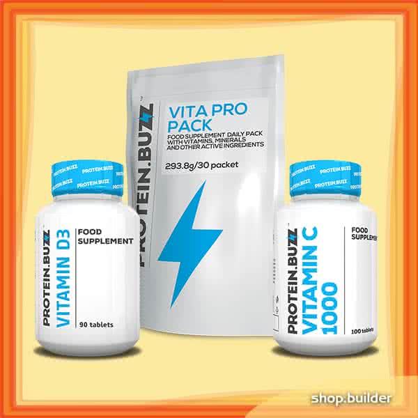 Protein Buzz Protein Buzz zimný vitamínový balíček set