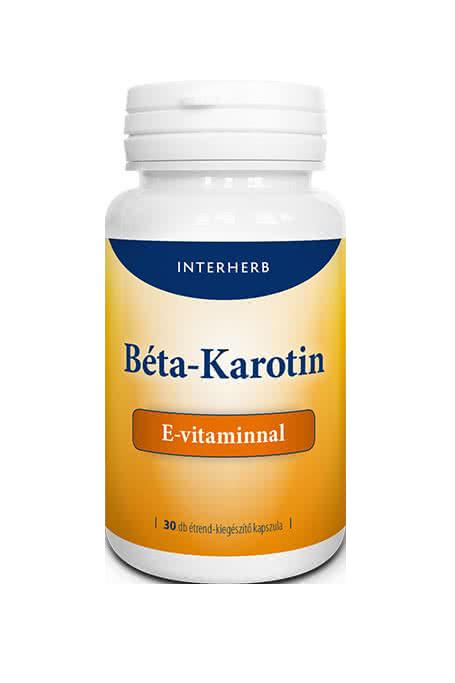 Interherb Beta-Carotene + Vitamin E 30 kaps
