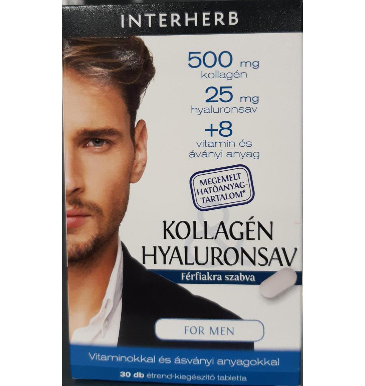 Interherb Kollagén & Hyaluronsav for Men 30 tbl.