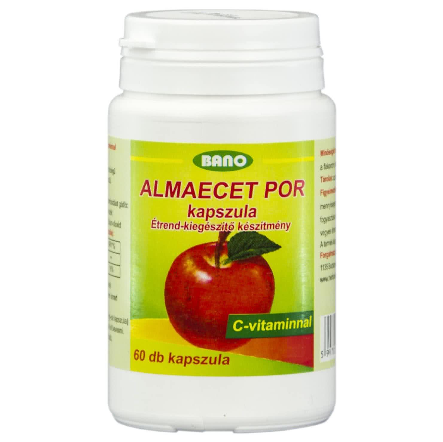 Bano Apple Cider Vinegar Caps 60 kaps