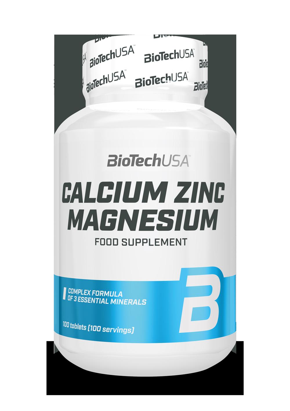 BioTech USA Calcium Zinc Magnesium 100 tbl.