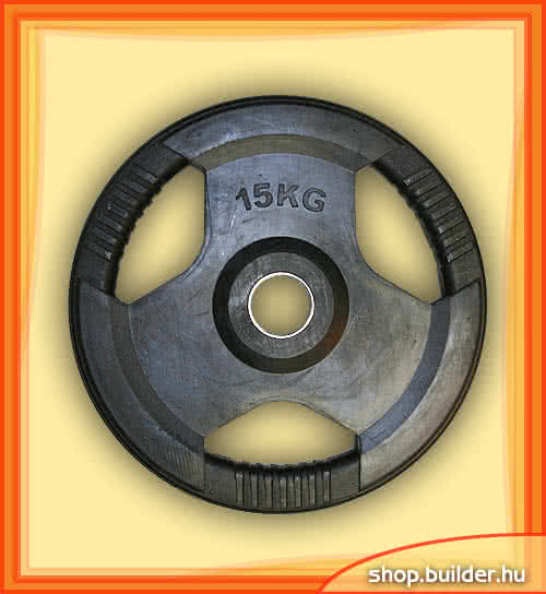 Ostatné športové vybavenie Rubber plate with grip 50mm 15 kg